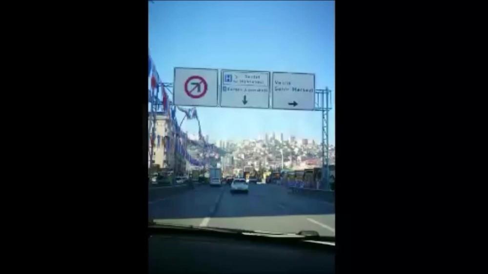 İzmit'te Erdoğan mitingine kum yüklü kamyonlu önlem