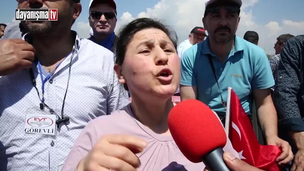 EYT'li kadının isyanı