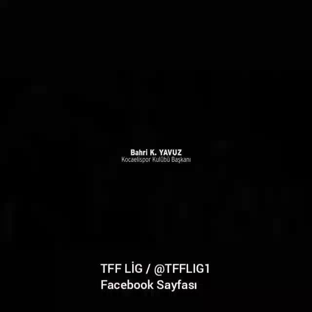 TFF LİG'den Kocaelispor'a duygulandıran klip